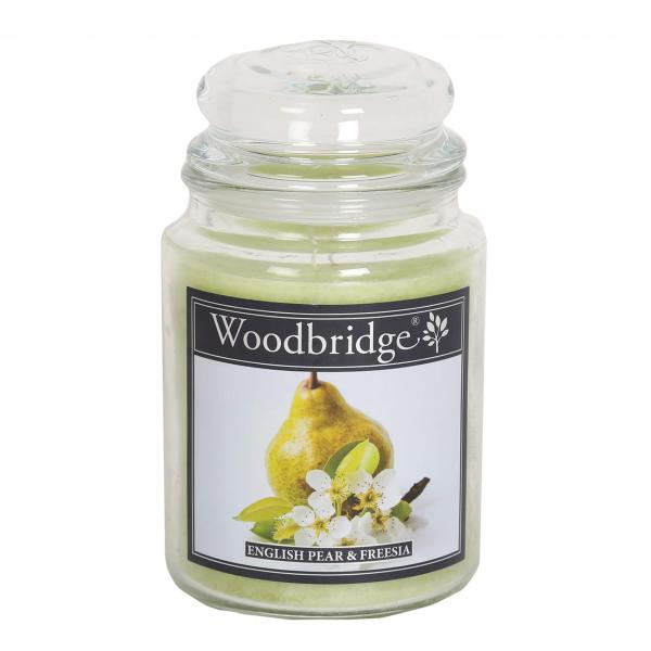 Woodbridge Candle - Große Duftkerze im Glas - English Pear & Freesia