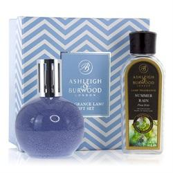 Ashleigh & Burwood - Geschenkset - Duftlampe Blue Speckle & 250ml Summer Rain