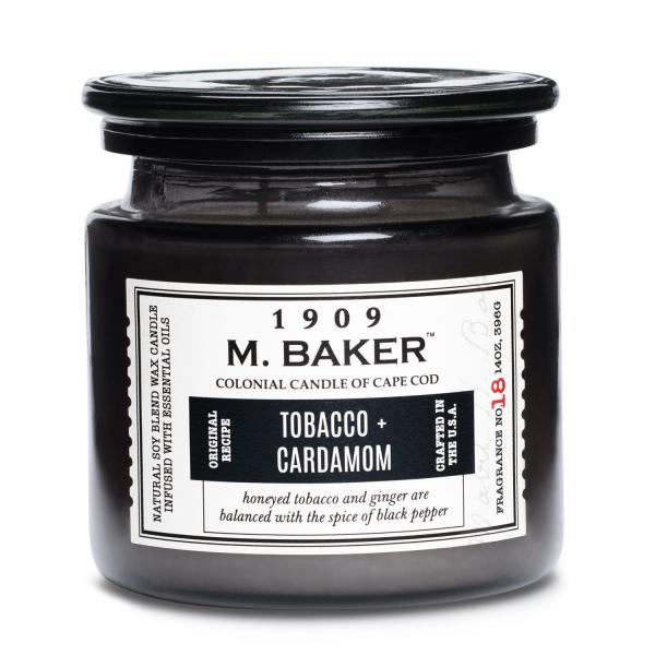 Colonial Candle - Mittlere Duftkerze im Glas - M. Baker - Tobacco and Cardamom