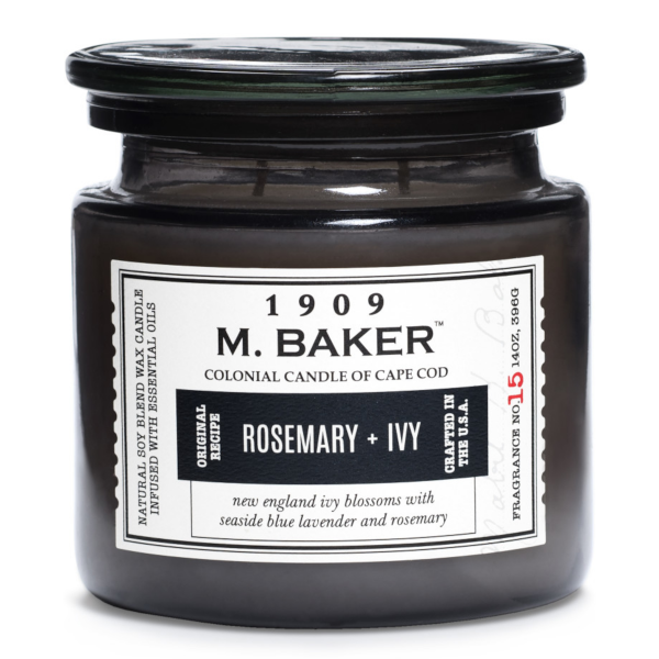 Colonial Candle - Mittlere Duftkerze im Glas - M. Baker - Rosemary & Ivy