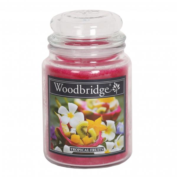 Woodbridge Candle - Große Duftkerze im Glas - Tropical Fruits