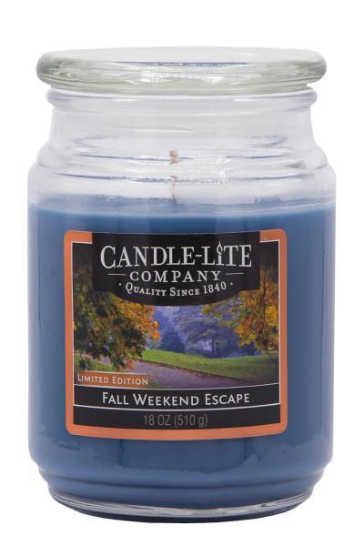 Candle-Lite Company - Große Duftkerze im Glas - Fall Weekend Escape
