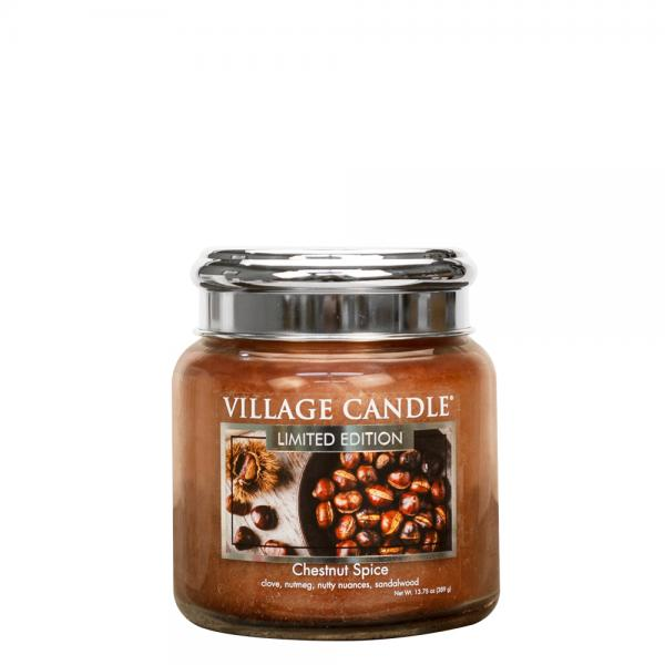 Village Candle - Medium Glass Jar - Chestnut Spice (LE)
