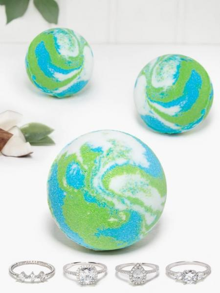 Charmed Aroma - Badebombe mit Schmuck - Coconut Melon (Ring)
