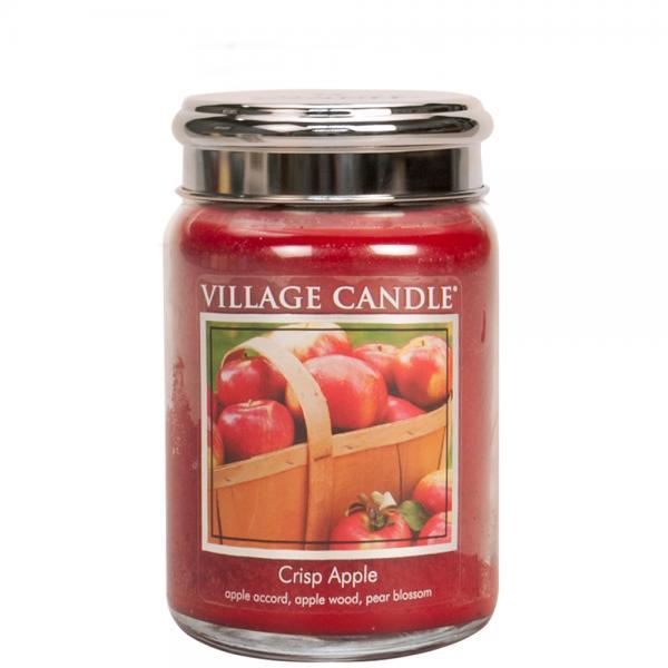 Village Candle - Large Glass Jar - Crisp Apple