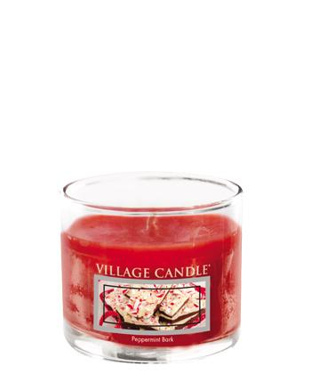Village Candle - Mini Glass Votive Candle - Peppermint Bark