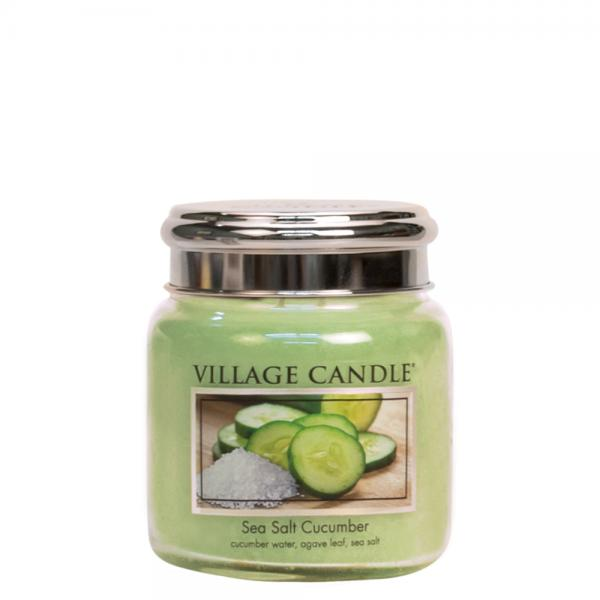 Village Candle - Medium Glass Jar - Sea Salt Cucumber