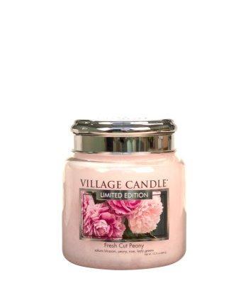 Village Candle - Medium Glass Jar - Fresh Cut Peony (LE) º*