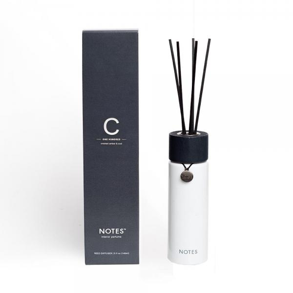 NOTES - Reed Diffuser - C - One Hundred - Smoked Amber & Oud