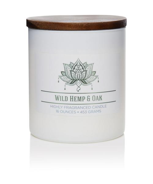 Colonial Candle - Mittlere Duftkerze im Glas - Wellness - Wild Hemp and Oak