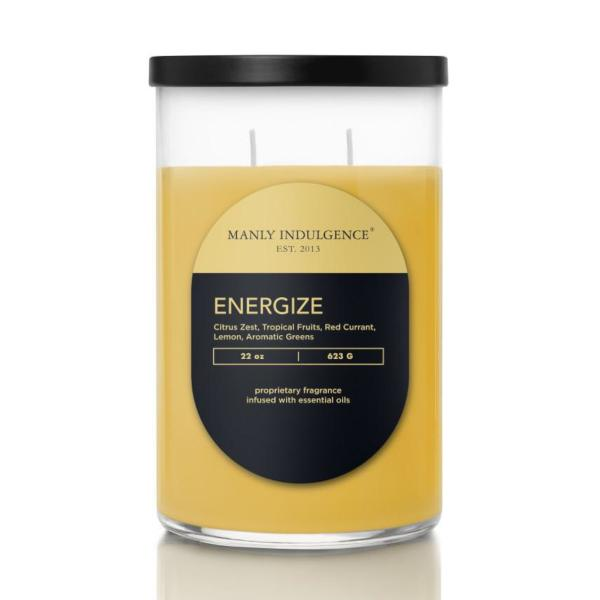 Colonial Candle - Große Duftkerze im Glas - Contemporary - Energize