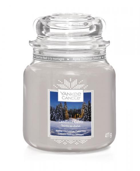 Yankee Candle - Classic Medium Jar Housewarmer - Candlelit Cabin Δ