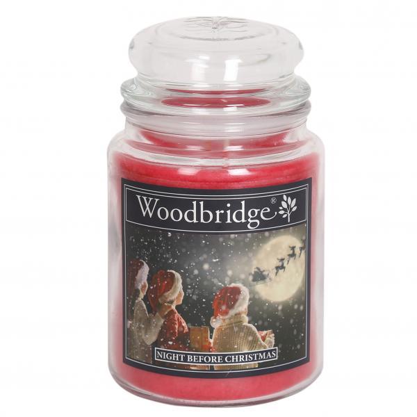 Woodbridge Candle - Große Duftkerze im Glas - Night Before Christmas