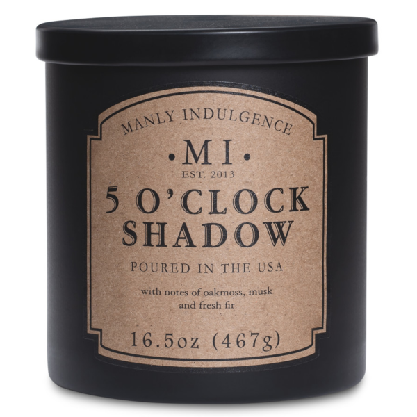 Colonial Candle - Mittlere Duftkerze im Glas - Manly Indulgence - 5 clock Shadow