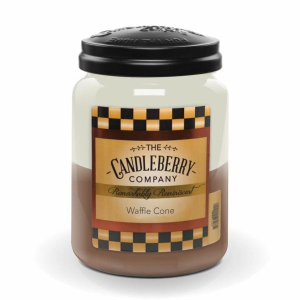 Candleberry - Duftkerze im Glas - Waffle Cone