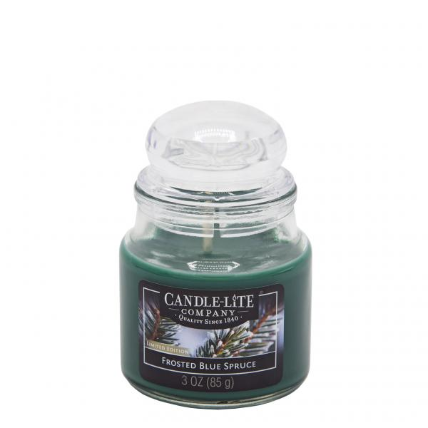 Candle-Lite Company - Kleine Duftkerze im Glas - Small Jar - Frosted Blue Spruce