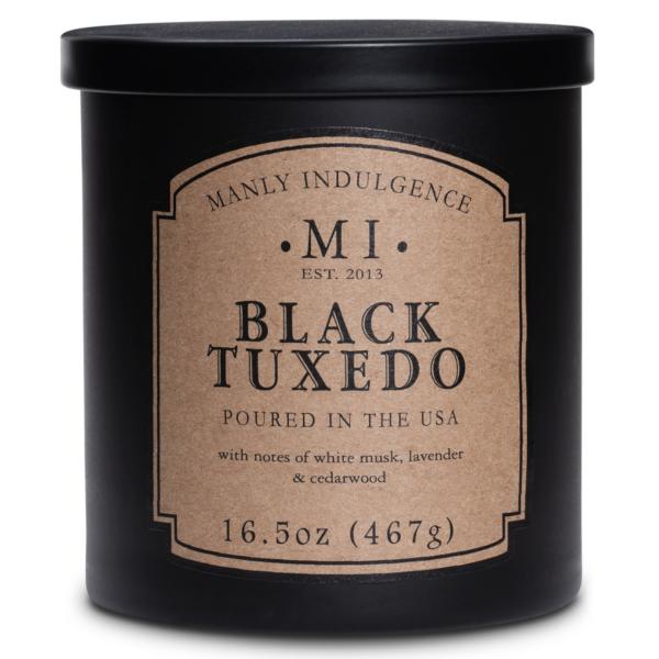 Colonial Candle - Mittlere Duftkerze im Glas - Manly Indulgence - Black Tuxedo