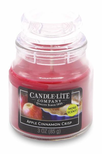 Candle-Lite Company - Kleine Duftkerze im Glas - Small Jar - Apple Cinnamon Crisp