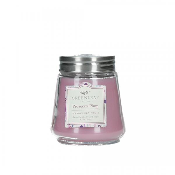 Greenleaf - Duftkerze im Glas - Petite Candle - Prosecco Plum