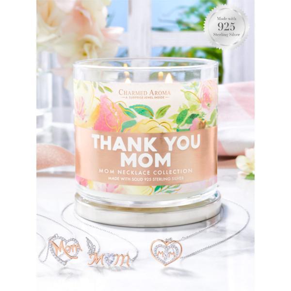 Charmed Aroma - Duftkerze mit Schmuck - Duftkerze im Glas Thank You Mom (Halskette)