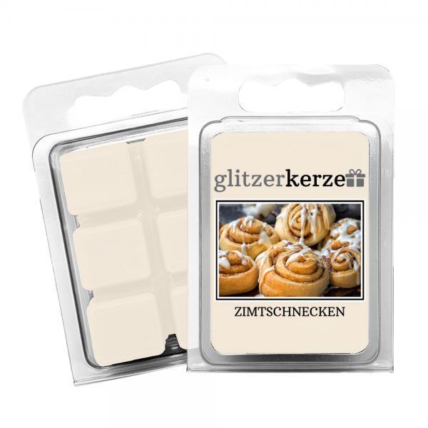 glitzerkerze - Duftwachs Zimtschnecken