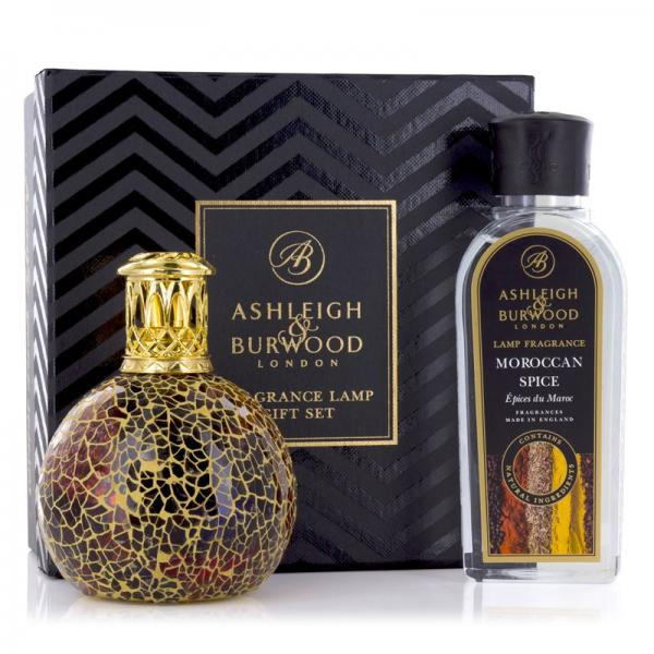 Ashleigh & Burwood - Geschenkset - Duftlampe Golden Sunset & 250ml Moroccan Spice