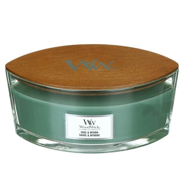 WoodWick - Hearthwick Ellipse Jar - Sage & Myrrh