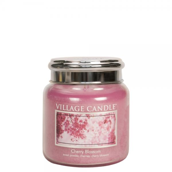 Village Candle - Medium Glass Jar - Cherry Blossom º*