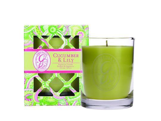 Greenleaf - Duftkerze im Glas - Signature Candle - Cucumber & Lily