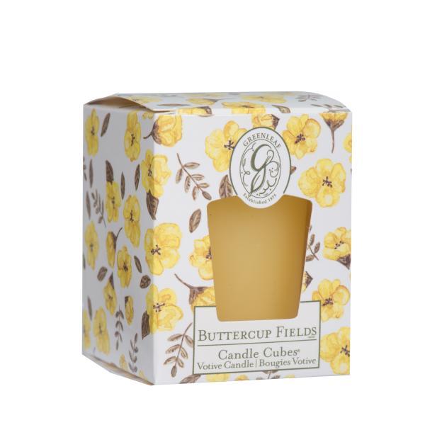 *Greenleaf - Candle Cube Votivkerze - Duftkerze - Buttercup Fields