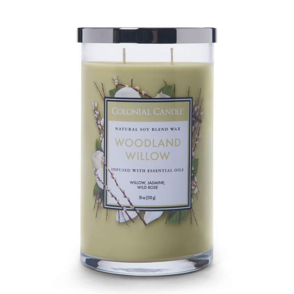 Colonial Candle - Große Duftkerze im Glas - Classic Cylinder - Woodland Willow