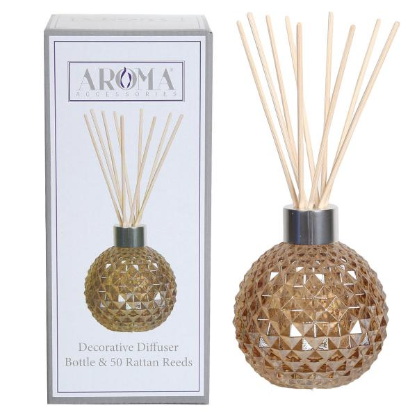Woodbridge Candle - Reed-Diffuser Vase inkl. 50 Reed Sticks - Braun