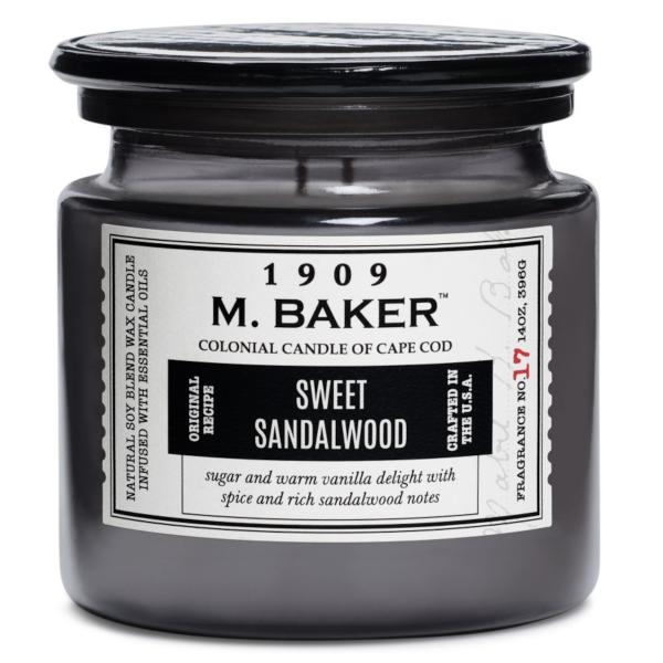 Colonial Candle - Mittlere Duftkerze im Glas - M. Baker - Sweet Sandalwood