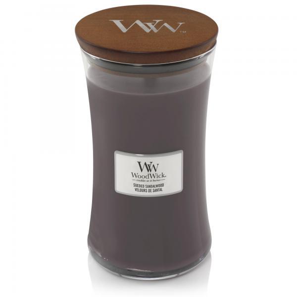 WoodWick - Large Hourglass Duftkerze - Suede & Sandalwood