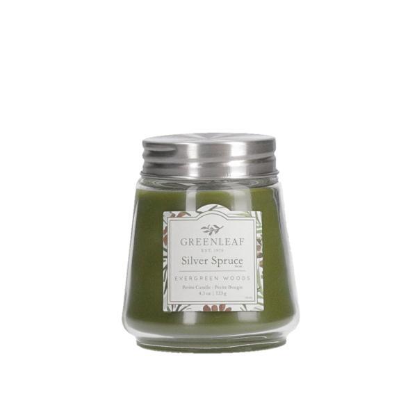 Greenleaf - Duftkerze im Glas - Petite Candle - Silver Spruce Δ