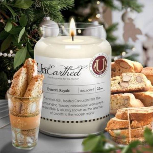 Candleberry - Duftkerze im Glas - Biscotti Royale