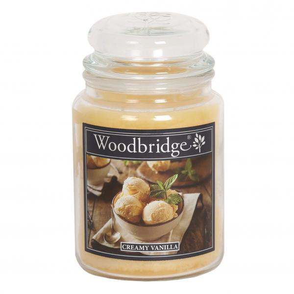 Woodbridge Candle - Große Duftkerze im Glas - Creamy Vanilla