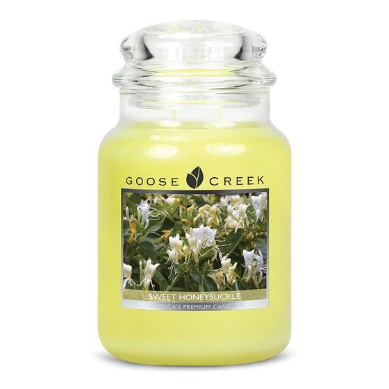 Goose Creek Candle - Classic Jar Duftkerze im Glas - Sweet Honeysuckle •
