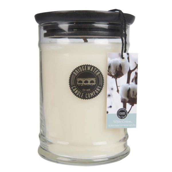 Bridgewater Candle - Große Duftkerze im Glas - Large Jar - White Cotton
