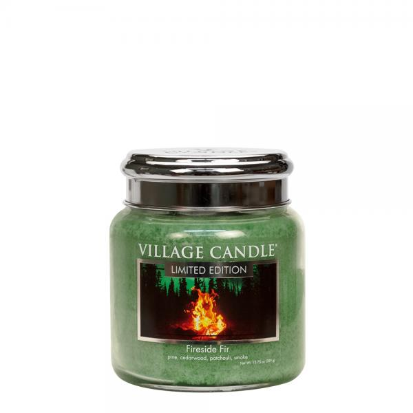 Village Candle - Medium Glass Jar - Fireside Fir (LE) º*