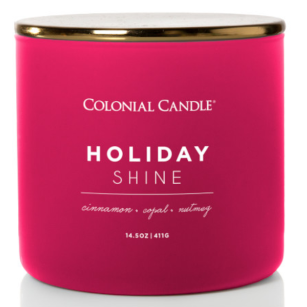 Colonial Candle - Mittlere Duftkerze im Glas - Pop of Color - Holiday Shine
