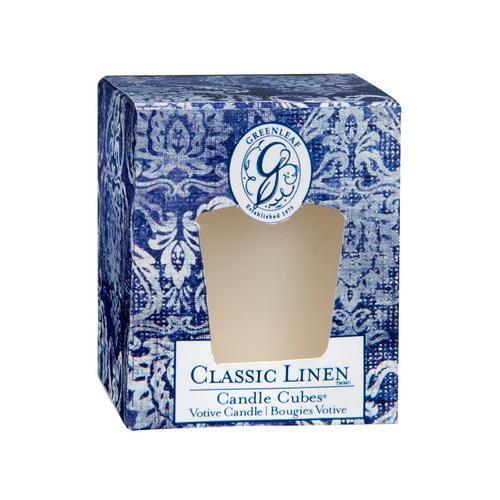 Greenleaf - Candle Cube Votivkerze - Duftkerze - Classic Linen