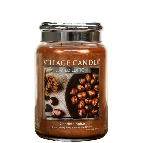 Village Candle - Large Glass Jar - Chestnut Spice (LE)