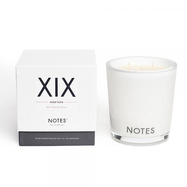NOTES - Large Candle Glass - Duftkerze - XIX - Nineteen - Tart Citrus & Cassis