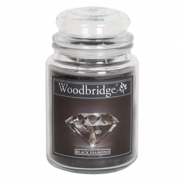 Woodbridge Candle - Große Duftkerze im Glas - Black Diamond