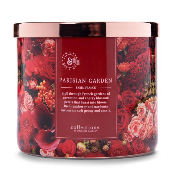 Colonial Candle - Mittlere Duftkerze im Glas - Travel Collection - Parisian Garden