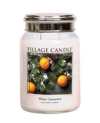 Village Candle - Large Glass Jar - Winter Clementine º*