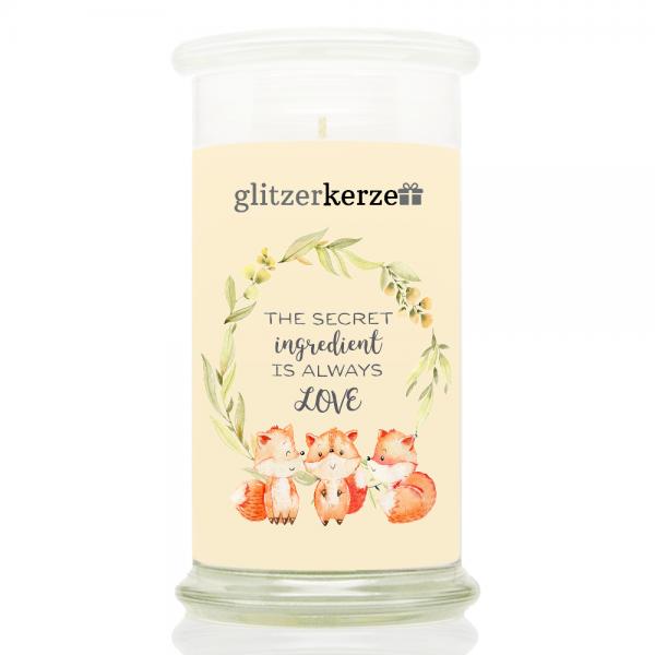 glitzerkerze - CE 09.21 - The Secret Ingredient is always LOVE