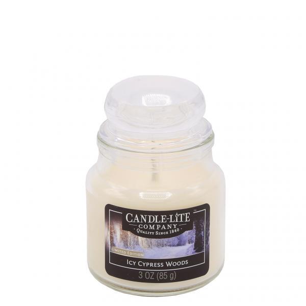 Candle-Lite Company - Kleine Duftkerze im Glas - Small Jar - Icy Cypress Woods