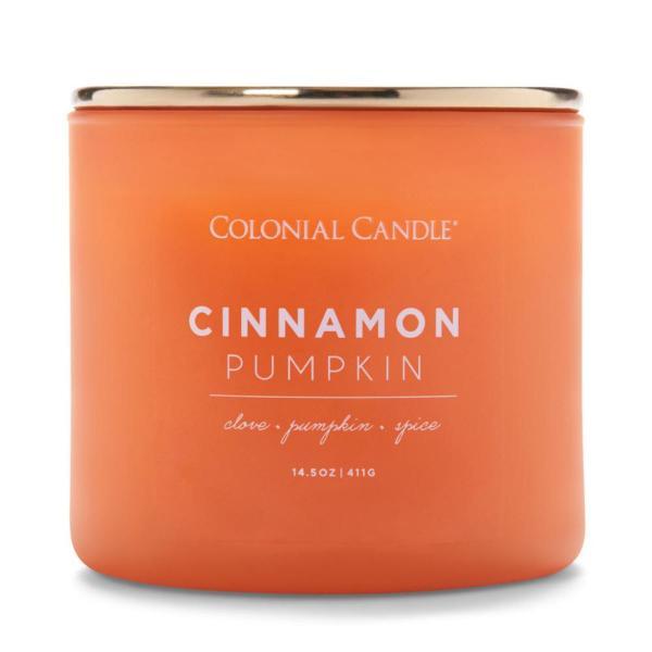 Colonial Candle - Mittlere Duftkerze im Glas - Pop of Color - Cinnamon Pumpkin
